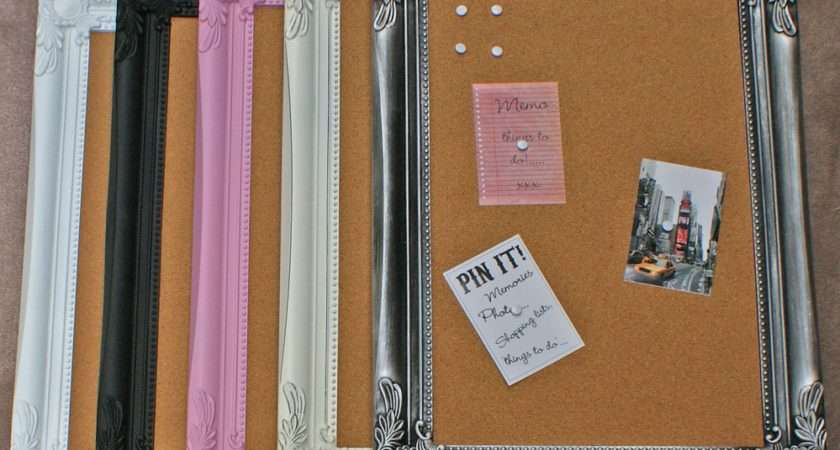 Pinboard Cork Shabby Chic Stylish Memo Notice Pin Board