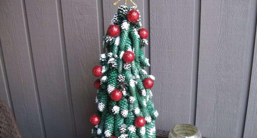 Pine Cone Christmas Tree Golf Balls Craft Tutorial Youtube