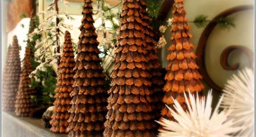 Pine Cone Christmas Trees Thanksgiving