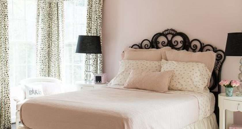 Pink Black Girls Bedroom Transitional Girl Room