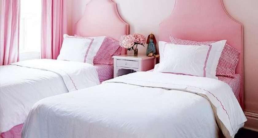 Pink Girls Bedroom Valance Drapery Panels