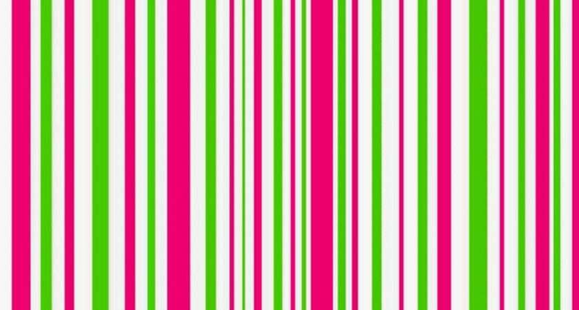 Pink Green Striped