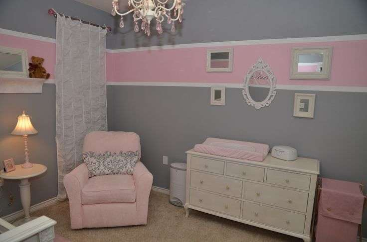 Pink Grey Baby Emily Pinterest Rooms