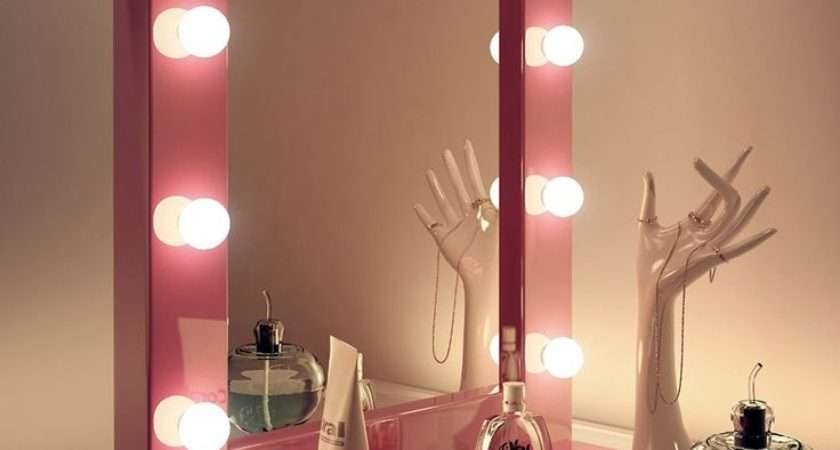 Pink Hollywood Make Theatre Dressing Room Mirror