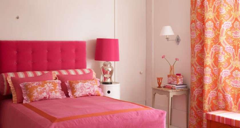Pink Orange Classic Bedroom Photos