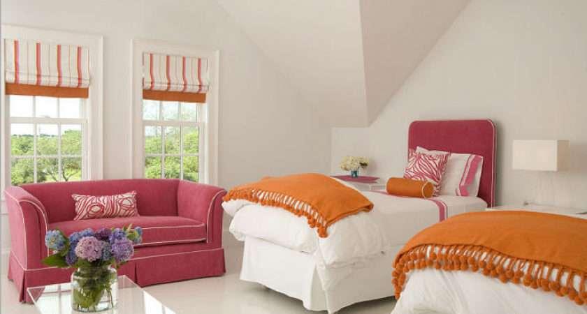 Pink Orange Girl Bedroom Driven Decor