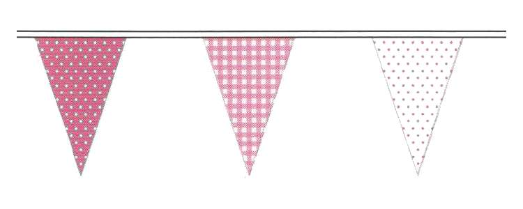 Pink Party Bunting