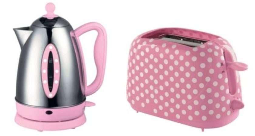 Pink Polka Dot Kettle Toaster Set Argos
