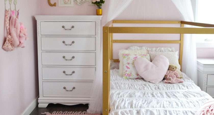 Pink White Gold Shabby Chic Glam Girls Bedroom