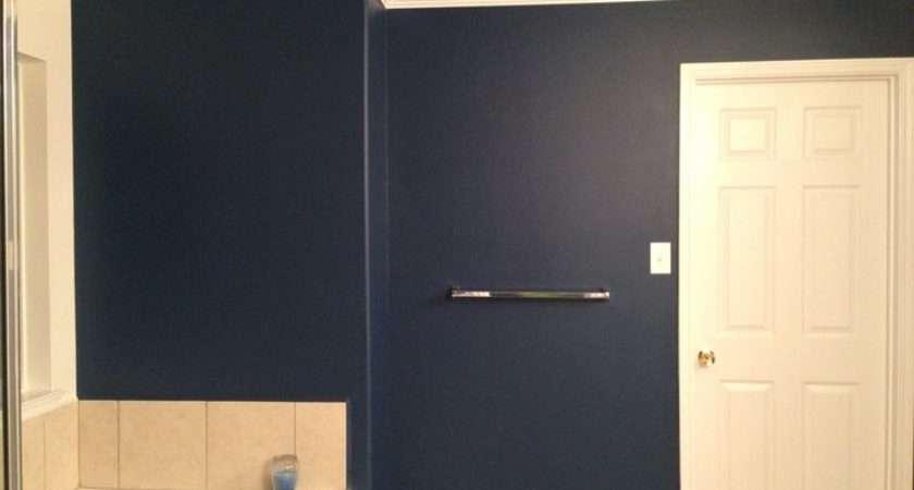 Pinterest Dark Blue Bathrooms Bathroom Wall