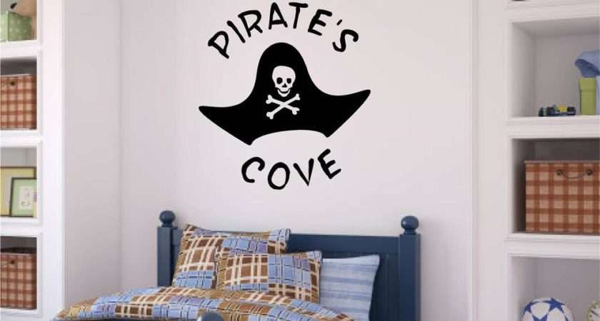 Pirate Cove Vinyl Decal Wall Stickers Words Letters Boy