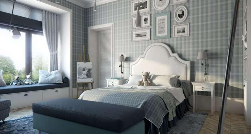 Plaid Bedroom Interior Design Ideas