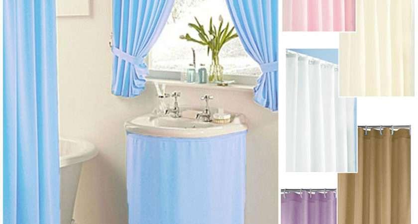 Plain Dyed Clearance Bathroom Curtains Shower