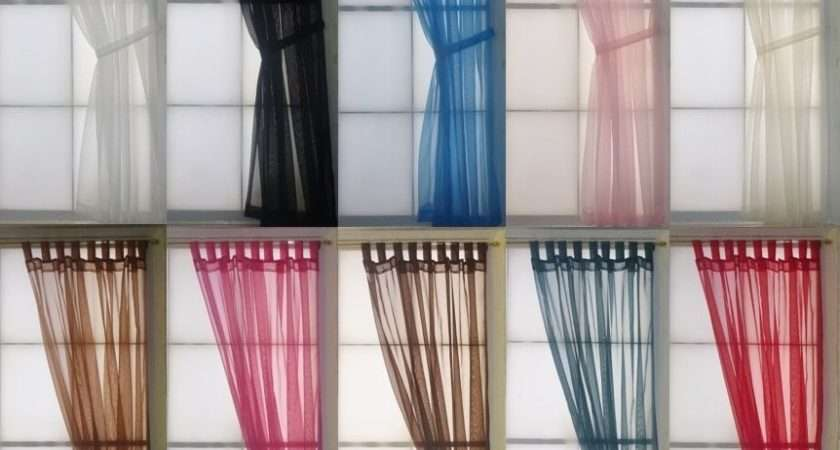 Plain Voile Tab Top Curtain Panel Made