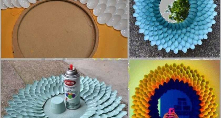 Plastic Spoon Mirror Craft Photos