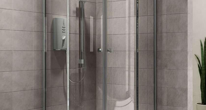 Plumbsure Quadrant Shower Enclosure Double Sliding