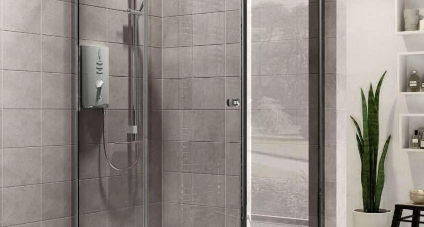 Plumbsure Rectangular Shower Enclosure Single Sliding