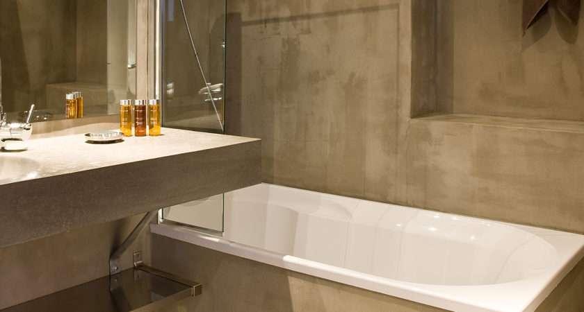 Polished Concrete Bathroom Natural Colors