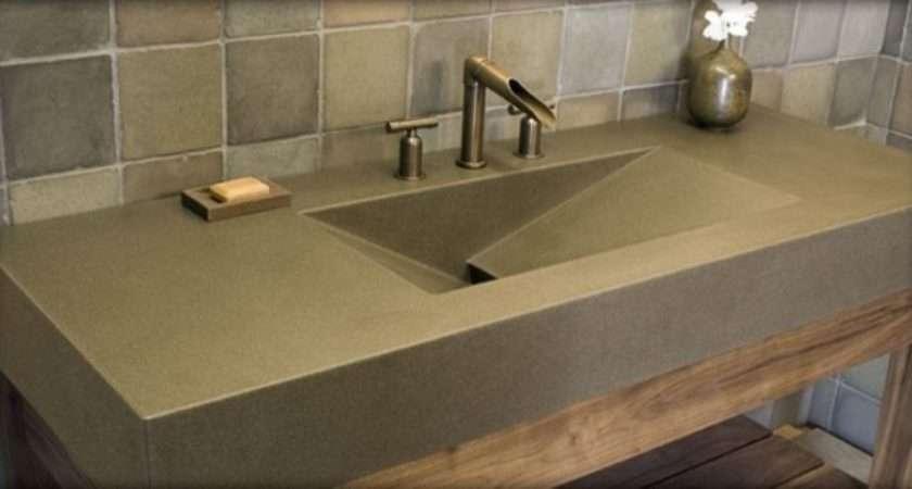 Polished Concrete Sink