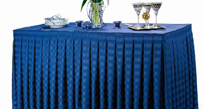 Poly Stripe Table Skirts Premier Linens