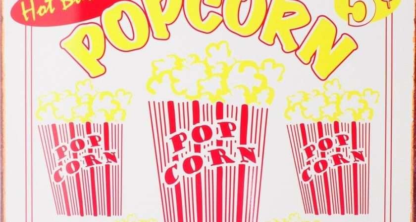 Popcorn Tin Signs Metal Sale Europosters