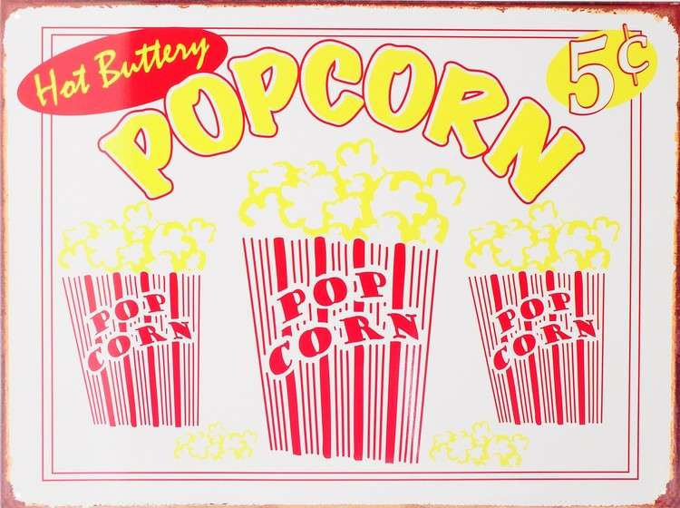 Popcorn Tin Signs Metal Sale Europosters