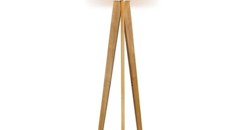 Poppy Tripod Natural Floor Lamp Homebase