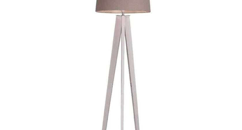 Poppy White Tripod Floor Lamp Homebase