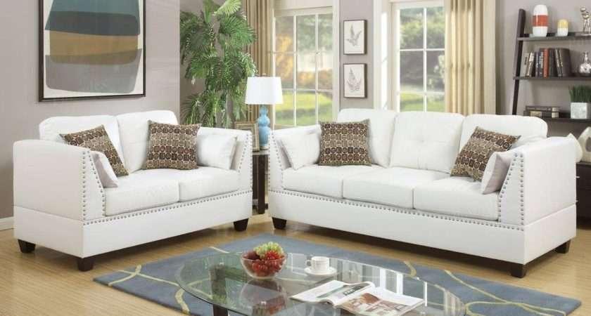 Popular Off White Leather Sofa Loveseat