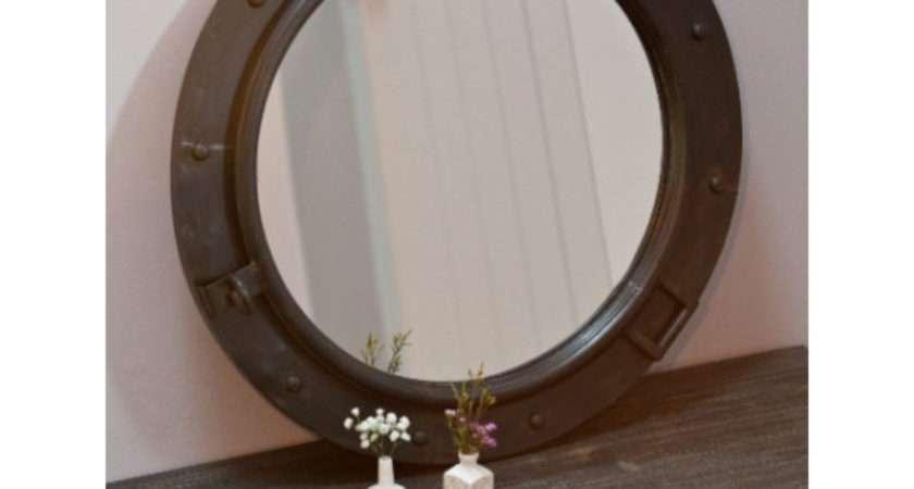 Porthole Mirror Rose Grey Mirrors Prints