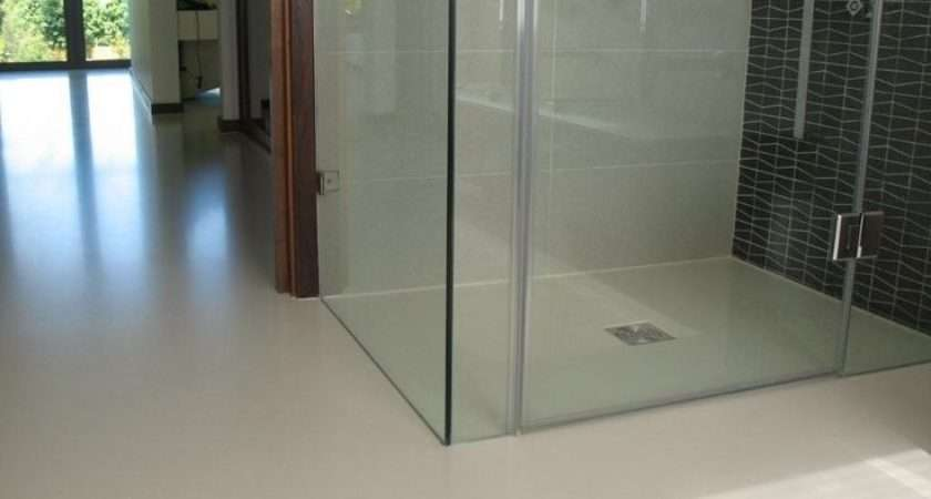 Poured Resin Floor House Beautiful Bathroom Pinterest