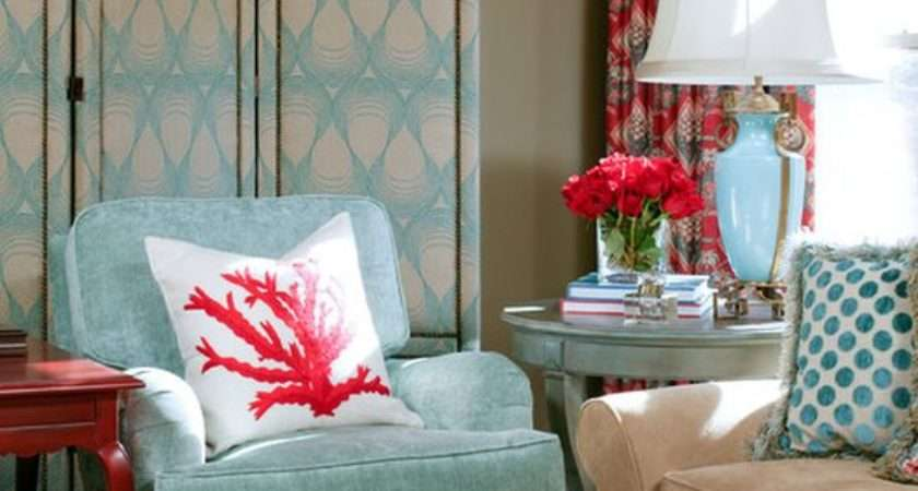 Powder Blue Poppy Red Rooms Ideas Inspiration