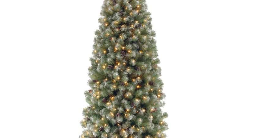 Pre Lit Lakeland Spruce Slim Artificial Christmas Tree