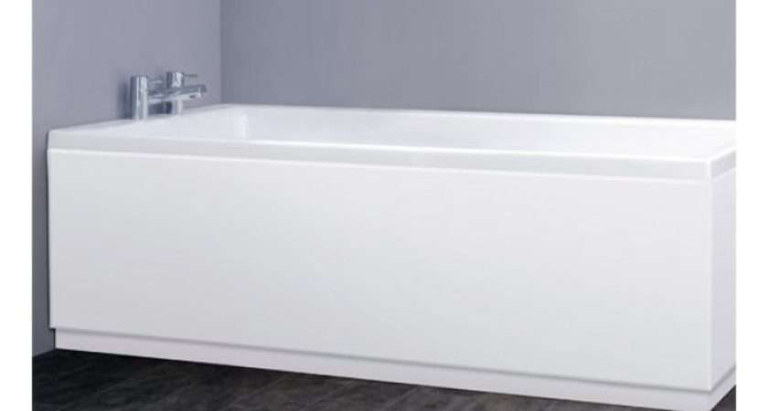 Premier High Gloss Front Side Bath Panels Mdf White