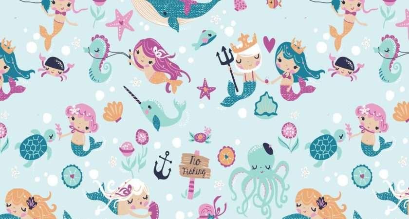 Pretty Mermaids Print Fabric Joann Ann