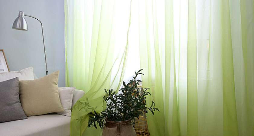 Pretty Modern Voile Curtains House Plan