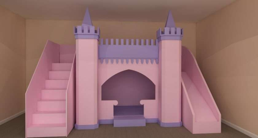 Pretty Princess High Sleeper Playhouse Bed