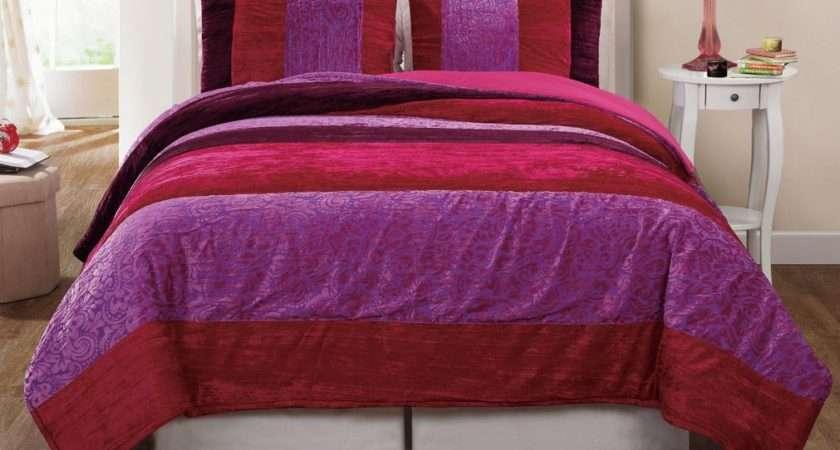 Pretty Purple Comforter Set Twin Queen