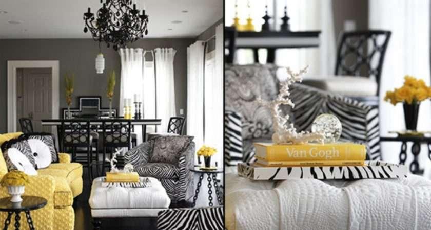 Print Living Room Decorating Ideas Black White