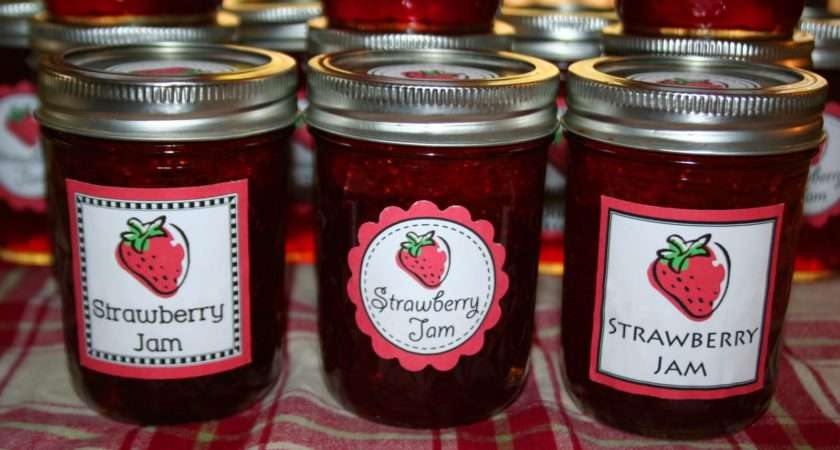 Printable Labels Jam Jars Proteckmachinery