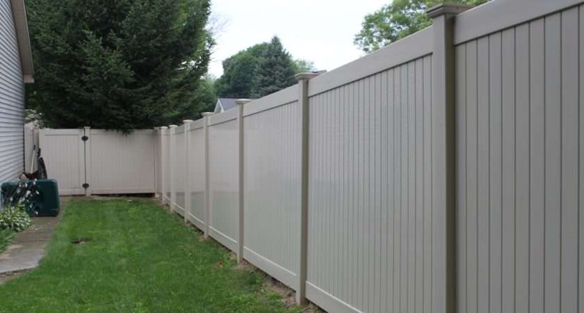 Privacy Fence Vinyl Securing Private Yard