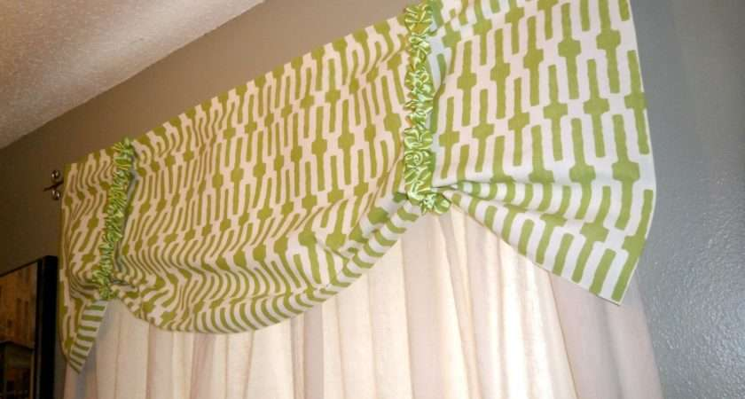 Project Repurposed Curtains Sew Valance