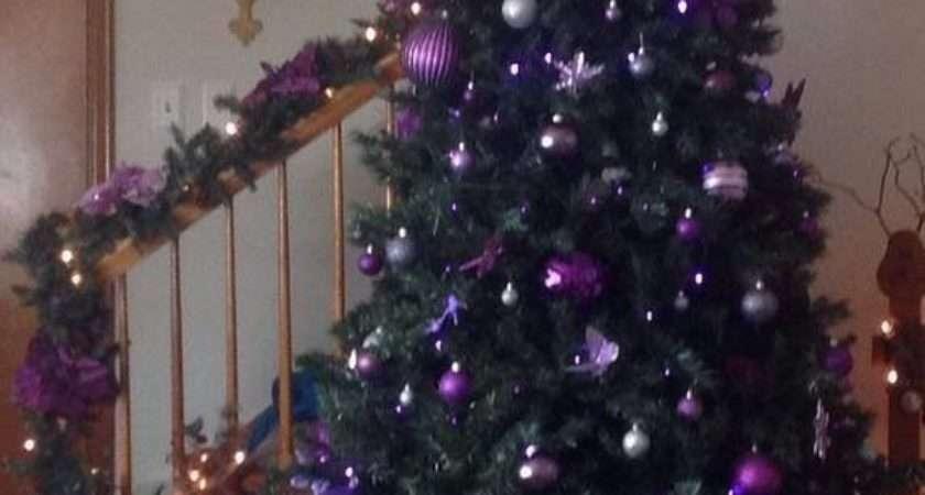 Purple Christmas Tree Ornaments Sanjonmotel