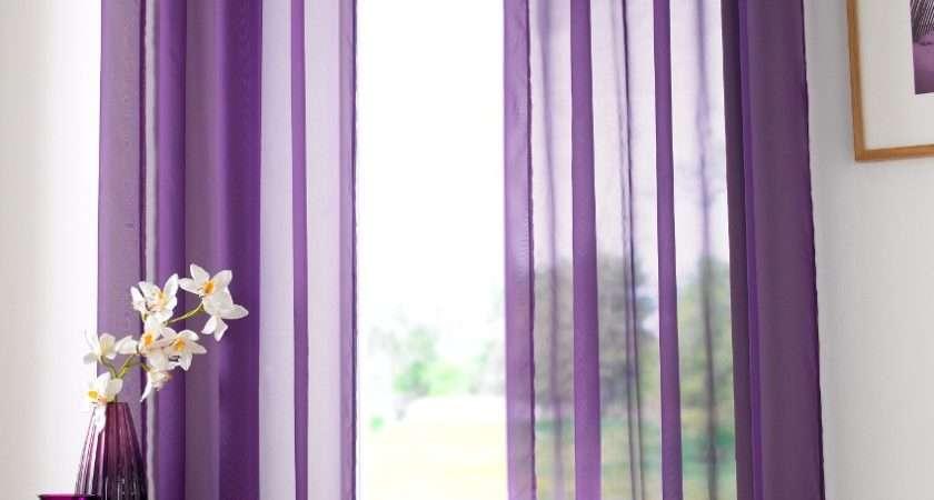 Purple Eyelet Voile Panel