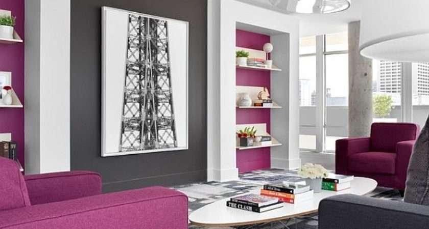 Purple Grey Living Room Design Decoist