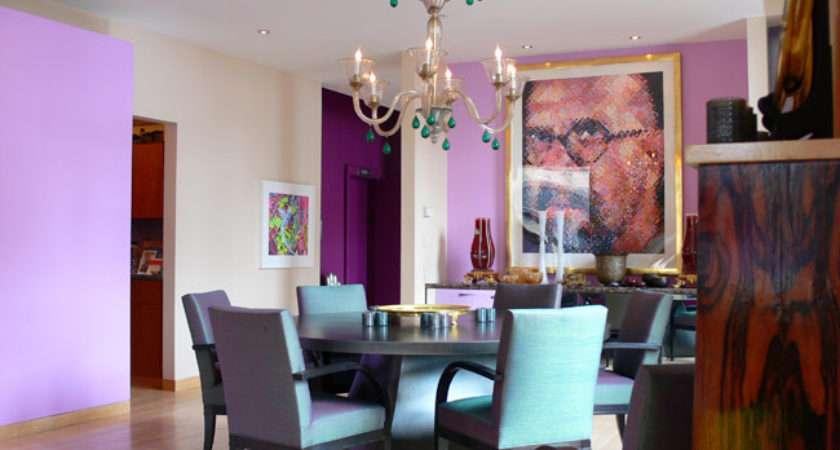 Purple Interior Designs Dining Room Car Led Lights