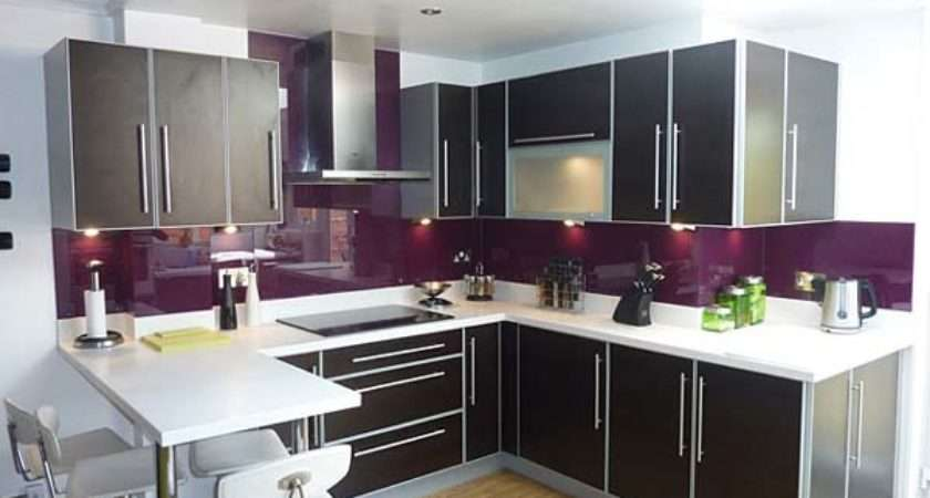 Purple Kitchen Splashbacks Design