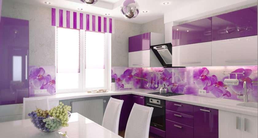 Purple Kitchen Wall Designs