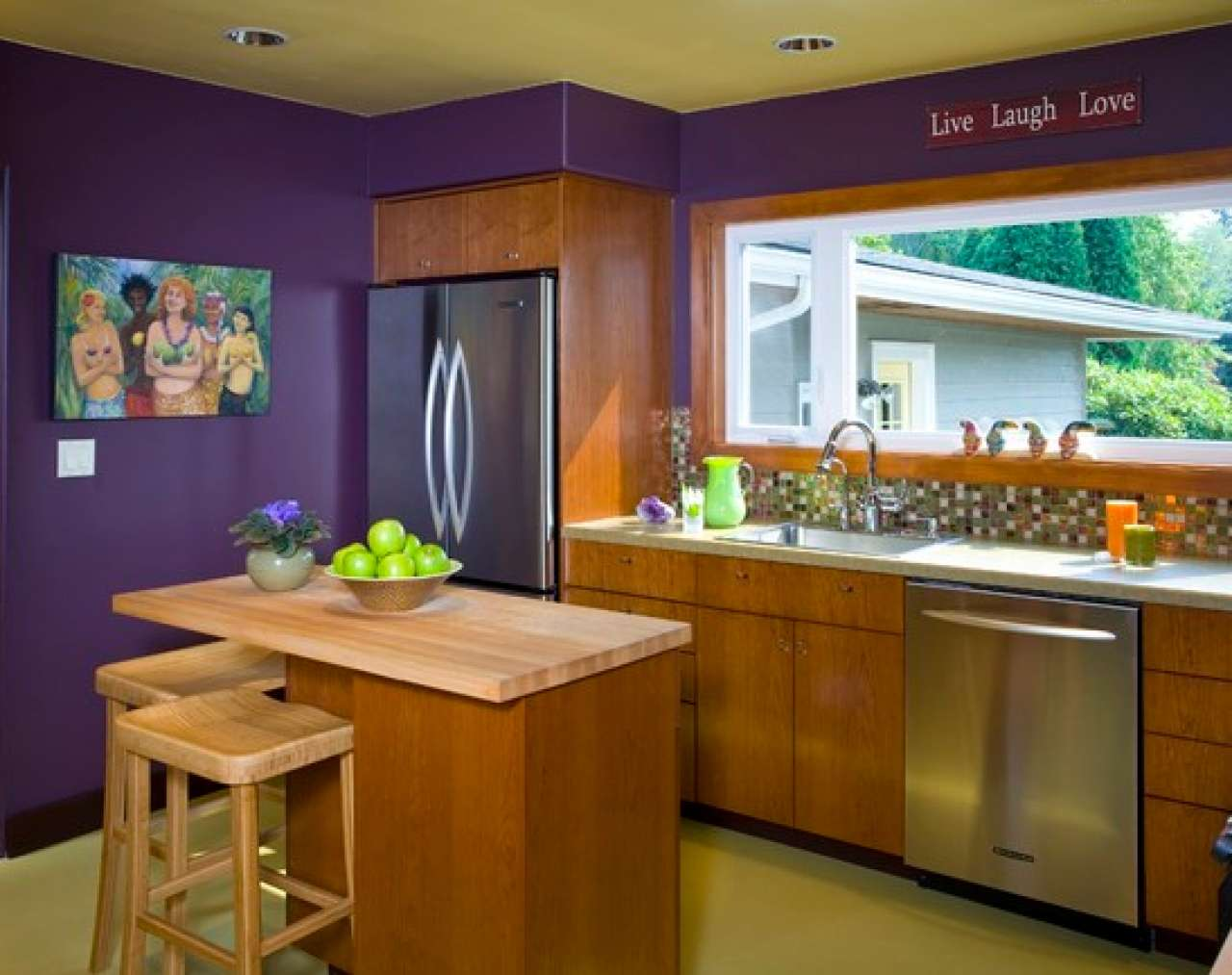 100+ ideas Purple And Lime Green Kitchen on www.weboolu.com