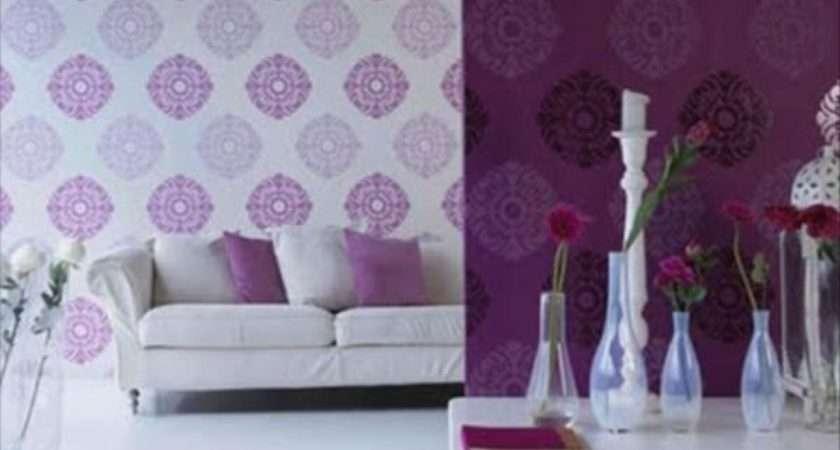 Purple Living Room Decorating Ideas Floral